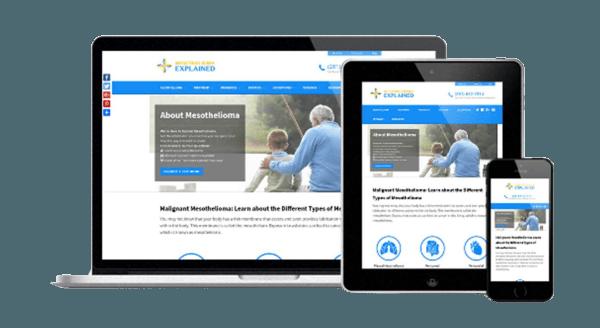 Responsive Mesothelioma Website